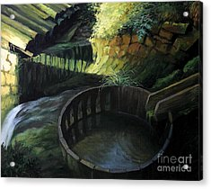 Old Watermill Acrylic Print by Kiril Stanchev