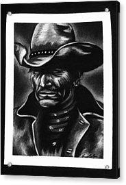 Old West Cowboy Acrylic Print by Sheena Pape