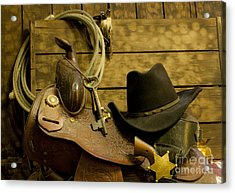 Old West Marshal Acrylic Print by Ronald Hoggard