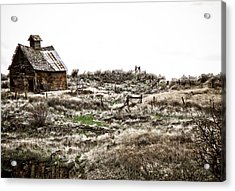 Old West School  Acrylic Print by Steve McKinzie
