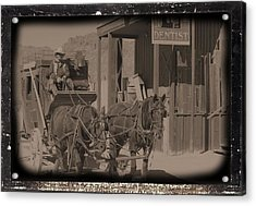 Old West Stagecoach Acrylic Print by David Rizzo