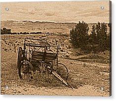 Old West Wagon Acrylic Print by Leland D Howard