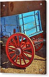 Old West Wagon Acrylic Print by Nikolyn McDonald