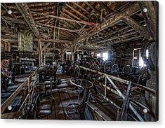 Old West Wagon Storage And Shop Acrylic Print by Daniel Hagerman
