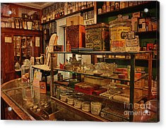 Old Western General Store Counter Acrylic Print by Janice Rae Pariza