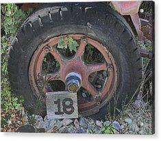 Old Wheel Acrylic Print
