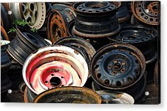 Old Wheels Acrylic Print