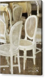 Old White Chairs Acrylic Print