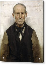 Old Willie - The Village Worthy, 1886 Acrylic Print by Sir James Guthrie