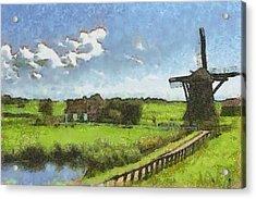 Old Windmill Acrylic Print by Ayse Deniz