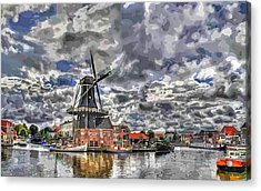 Old Windmill On The Shore Acrylic Print by Maciek Froncisz