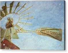 Old Windmill Acrylic Print by TK Goforth
