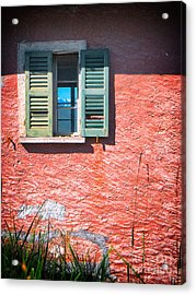 Acrylic Print featuring the photograph Old Window With Reflection by Silvia Ganora