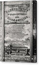 Old Wine Crates Acrylic Print