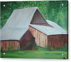 Old Wood Barn Acrylic Print by Melanie Blankenship