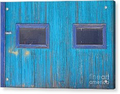 Old Wood Blue Garage Door Acrylic Print by James BO  Insogna