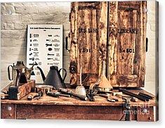 Old  Wood Workbench Acrylic Print