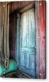 Old Wooden Door Acrylic Print by Lynn Jordan
