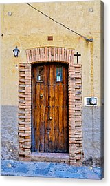 Old Wooden Door - Mexico - Photograph By David Perry Lawrence Acrylic Print