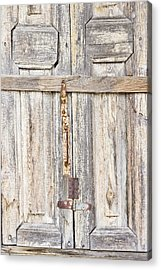 Old Wooden Doorway Acrylic Print by Tom Gowanlock