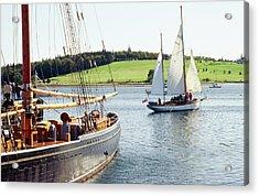 Old Wooden Sailboats Near Shore Acrylic Print