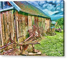 Old Wooden Shed Acrylic Print by Roman Milert