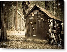 Old Wooden Shed Yosemite Acrylic Print