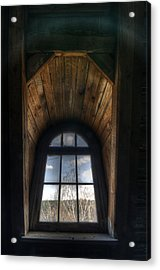 Old Wooden Window Acrylic Print by Nathan Wright