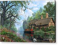Old Woodland Canal Acrylic Print by Dominic Davison