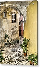 Old World Courtyard Of Europe Acrylic Print