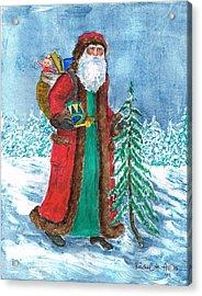 Old World Father Christmas4 Acrylic Print by Barbel Amos