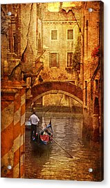 Old World Gondola Acrylic Print