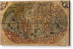 Old World Map Acrylic Print by Dan Sproul