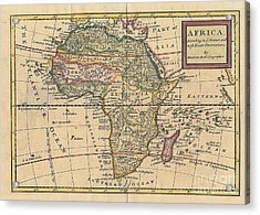 Old World Map Of Africa Acrylic Print by Inspired Nature Photography Fine Art Photography