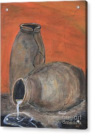 Acrylic Print featuring the painting Old World Pottery by Christie Minalga