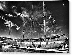 Old World Sailboat Acrylic Print by John Rizzuto