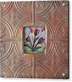 Old World Tulips Acrylic Print by Krista Ouellette