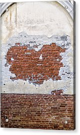Old Worn Out Wall In Venice Acrylic Print by Francesco Rizzato