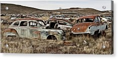 Old Wrecks Acrylic Print