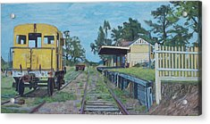 Old Yarra Glen Railway Station Acrylic Print by Bert Ernie