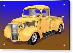 Old Yeller Pickem Up Truck Acrylic Print by Jack Pumphrey