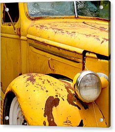 Old Yellow Truck Acrylic Print by Art Block Collections