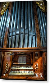 Olde Church Organ Acrylic Print by Adrian Evans