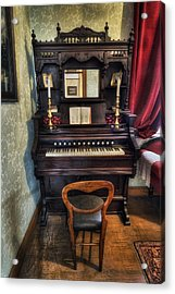 Olde Piano Acrylic Print by Ian Mitchell