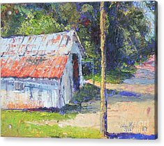 Olde Shed Acrylic Print by Chris Shepherd