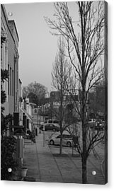 Olde Town In Black And White Acrylic Print