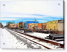 Olde Town In Snow Acrylic Print
