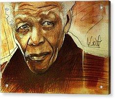 Older Nelson Mandela Acrylic Print