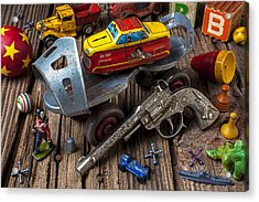 Older Roller Skate And Toys Acrylic Print by Garry Gay