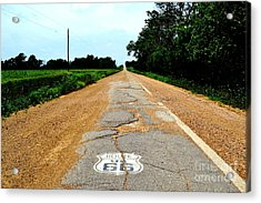 Acrylic Print featuring the photograph Oldest Stretch Of Route 66 by Utopia Concepts